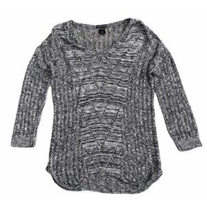 Bay Studio Black and White Open Knit Sweater XL